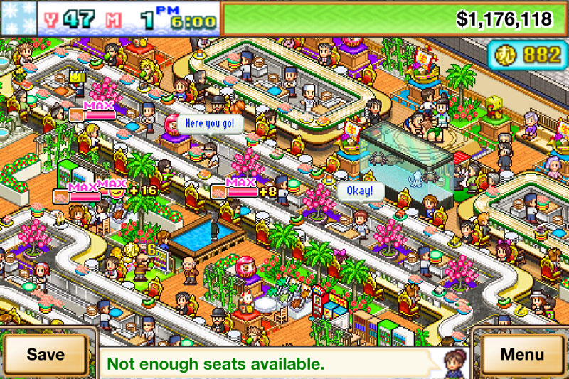 The sushi spinnery kairosoft