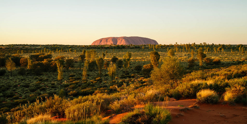 sunrise in uluru